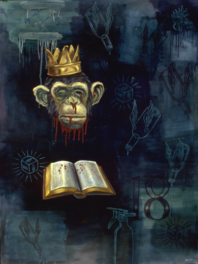 JoeONeillpainting-(monkeyhead) 1999