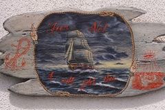 """Fear Not acrylic on wood 11.5""""x23"""" ©2003"""