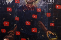 """We Still Own the Night (the shooting of Amadou Diallo) oil on canvas 38""""x48"""" 2000/2004 AVAILABLE"""
